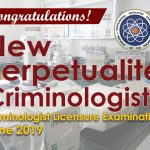 2019 New Perpetualite Criminologists